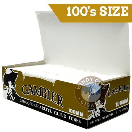 Gambler Gold Cigarette Tubes 100 S Tube Cut 200ct