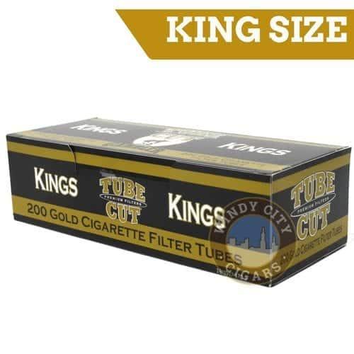 Gambler Cigarette Tubes – (Gold) King size Tube Cut (200ct.)