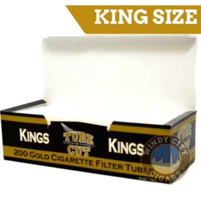 Gambler Cigarette Tubes – (Gold) King size Tube Cut (200ct.)