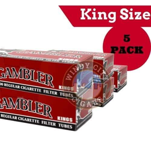 Gambler Cigarette Tubes – Red- King Size
