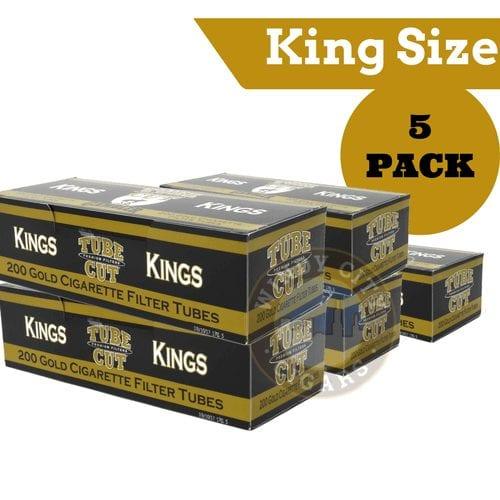 Gambler Cigarette Tubes – (Gold) King Size Tube Cut