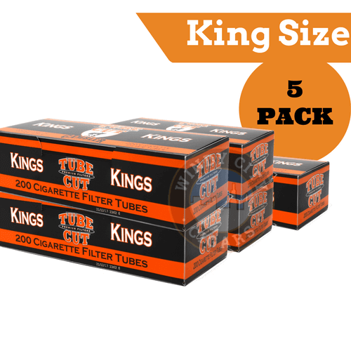 Gambler Cigarette Tubes – (Red) King size Tube Cut (200ct.) 5PACK
