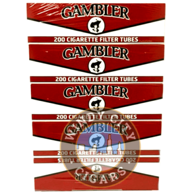 Gambler Cigarette Tubes – Red- King Size