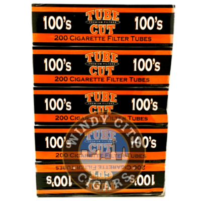 Gambler Cigarette Tubes – (Red) 100's Tube Cut (200ct.) 5PACK