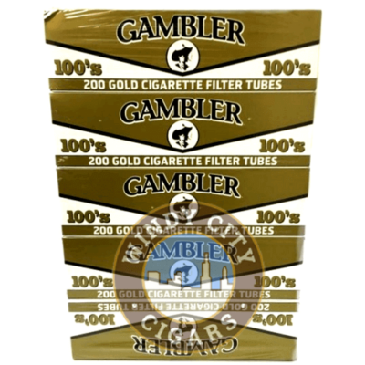 Gambler Cigarette Tubes – Gold – 100's (200ct.) 5PACK