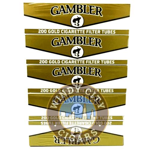 Gambler Cigarette Tubes – Gold – King Size (200ct.) 5PACK