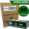 Case of Gambler Tube Cut Menthol King