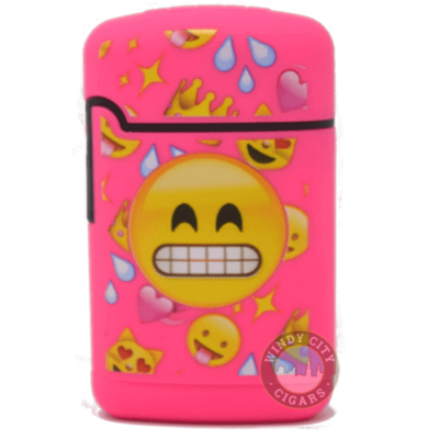 pink emoji torch lighter