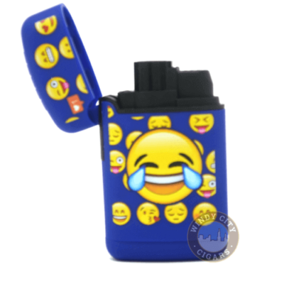blue emoji torch lighter