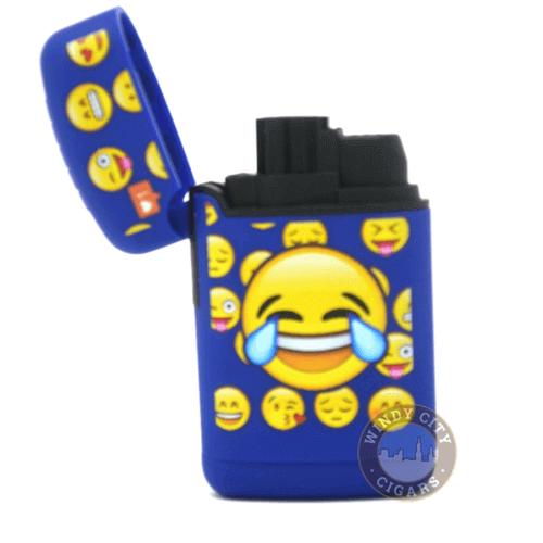 blue emoji torch lighter