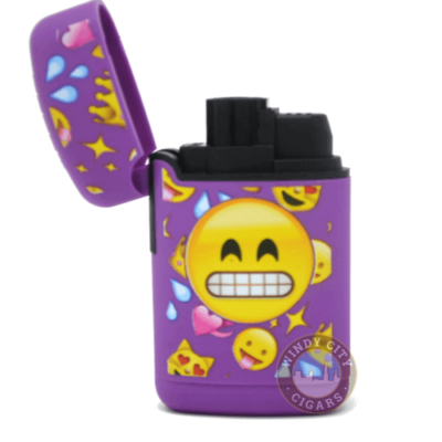 purple emoji torch lighter