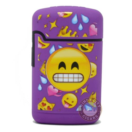 purple emoji torch lighter