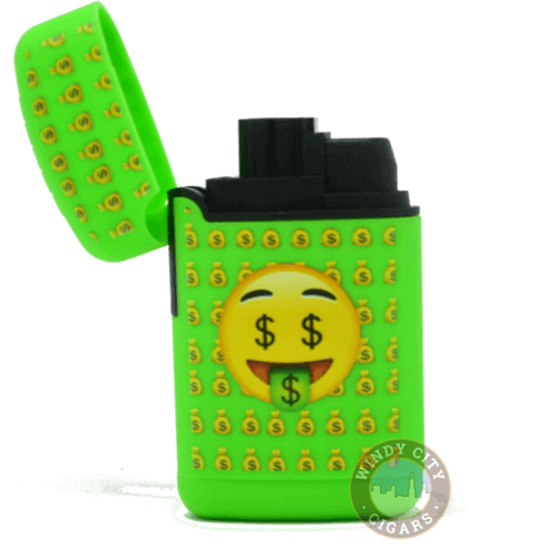green emoji torch lighter