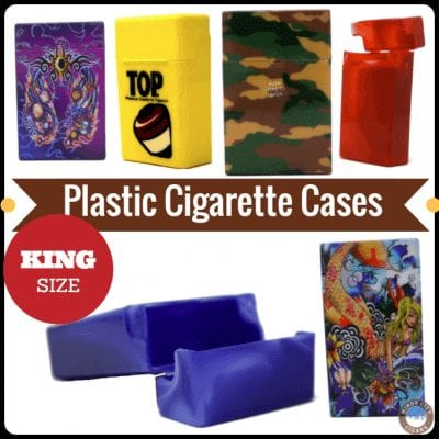 King Size Plastic Cigarette Cases