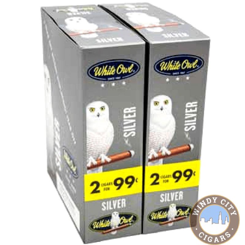 White Owl Cigarillos Silver Windy