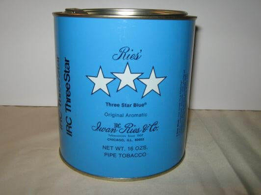 Three Star Blue Pipe Tobacco 16oz Tin Windy City Cigars