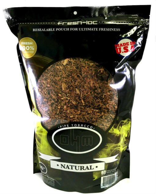 Ohm Natural Pipe Tobacco 1lb Bag
