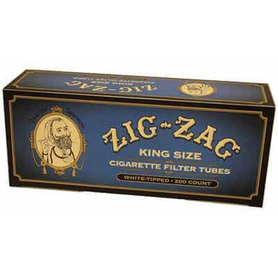 Zig Zag Blue King Size Cigarette Tubes 200ct