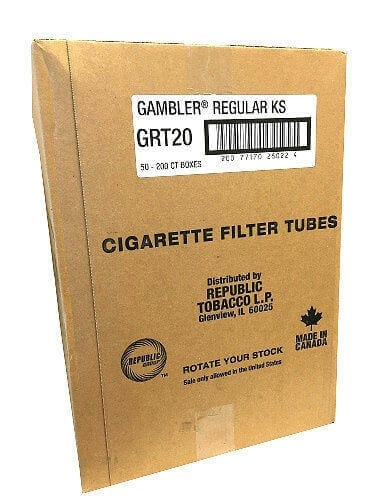 Case of Gambler Tube Cut Regular King