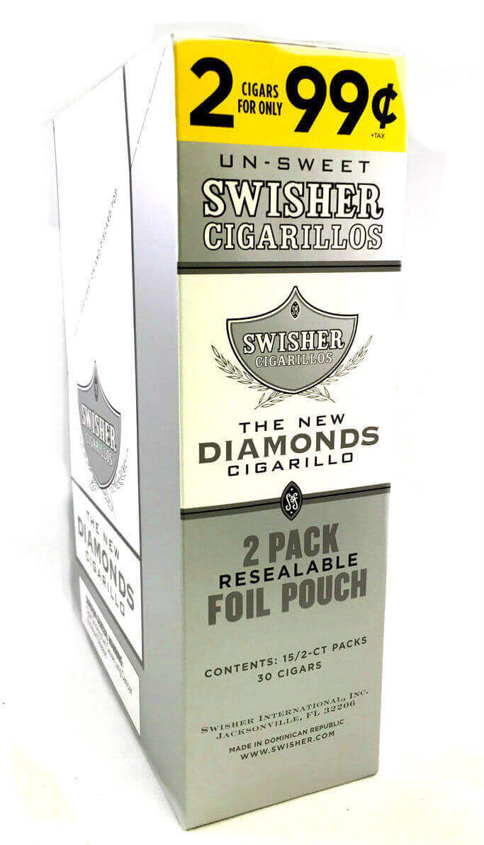 Swisher Sweets New Diamonds Cigarillos Pack of 15